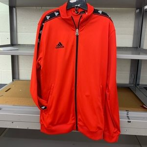 Adidas Red Mens Large Track Jacket